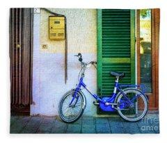 The Lory Bicycle Fleece Blanket