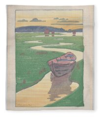 The Lost Boat , Arthur Wesley Dow Fleece Blanket