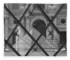 The Louvre From The Inside Fleece Blanket