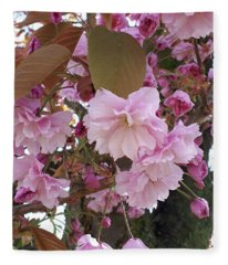 The Loveliest Of Trees The Cherry Now Is Hung With Blossom On The Bough Fleece Blanket