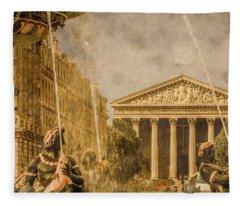 Paris, France - The Madeleine Fleece Blanket