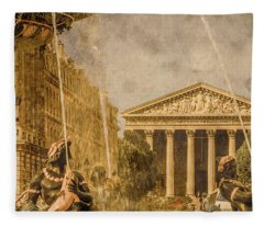 Paris, France - The Madeleine Fleece Blanket
