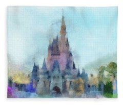 The Magic Kingdom Castle Wdw 05 Photo Art Fleece Blanket