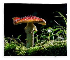 The Magic Mushroom Fleece Blanket