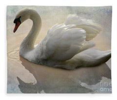 The Magical Swan  Fleece Blanket