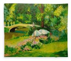 The Magnificent Bow Bridge Fleece Blanket