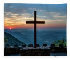 The Magnificent Cross Pretty Place Chapel Greenville Sc Great Smoky Mountains Art Fleece Blanket