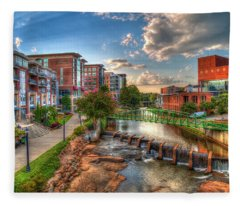 The Main Attraction Reedy River Greenville South Carolina Art Fleece Blanket