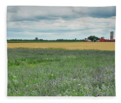 Farming Landscape Fleece Blanket