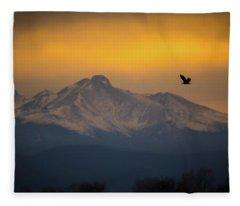 The Majestic Bald Eagle Fleece Blanket