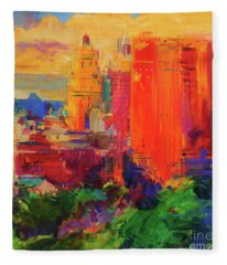 The Majestic, New York Fleece Blanket