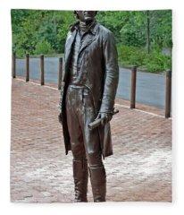 The Man Behind Monticello Fleece Blanket