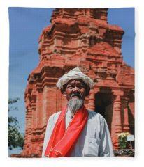 The Man Holds The Tower Champa Fleece Blanket