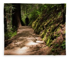 The Man In The Forest Fleece Blanket