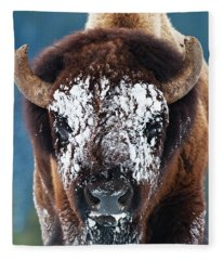 The Masked Bison Fleece Blanket