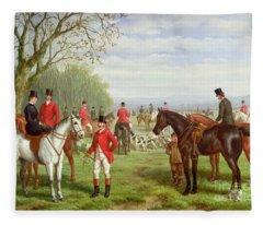 British Countryside Paintings Fleece Blankets