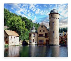 The Mespelbrunn Castle Fleece Blanket