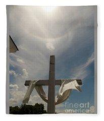 The Message Of The Cross Fleece Blanket