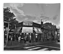 The Middle East In Central Square Cambridge Ma Black And White Fleece Blanket