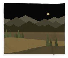 The Midnight Greens Fleece Blanket
