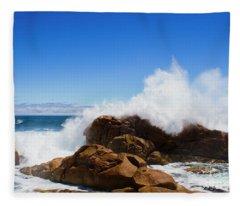 The Might Of The Ocean Fleece Blanket