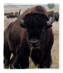 The Mighty Bison Fleece Blanket