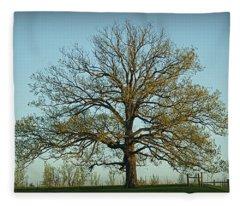 The Mighty Oak In Spring Fleece Blanket