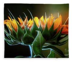 The Mighty Sunflower Fleece Blanket