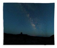 The Milky Way At Goblin Valley Fleece Blanket