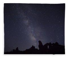 The Milky Way Over Turret Arch Fleece Blanket
