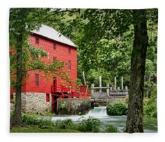 The Mill At Alley Spring Fleece Blanket