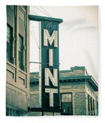 The Mint Classic Neon Sign Livingston Montana Fleece Blanket