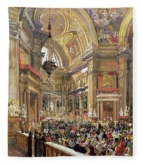 The Miracle Of The Liquefaction Of The Blood Of Saint Januarius Fleece Blanket
