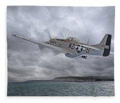The Mission - P51 Over Dover Fleece Blanket