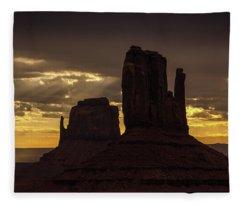 The Mittens Sunrise Fleece Blanket