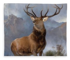 Monarch Of The Glen Fleece Blanket
