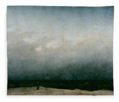 Monk By The Sea  Fleece Blanket
