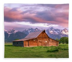 The Moulton Barn On Mormon Row Fleece Blanket