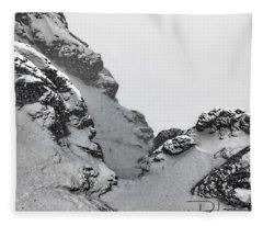 The Mountain Abyss Fleece Blanket