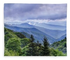 The Mountains Of Great Smoky Mountains National Park Fleece Blanket