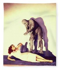 The Mummys Ghost Fleece Blanket