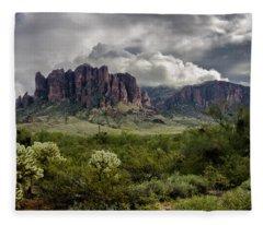 The Mystic Mountain  Fleece Blanket