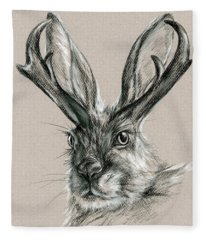 The Mythical Jackalope Fleece Blanket