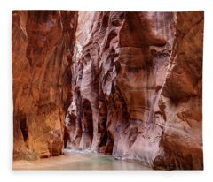 The Narrows Zion National Park Utah  Fleece Blanket