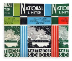 The National Limited Collage Fleece Blanket