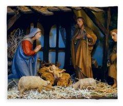 The Nativity Fleece Blanket