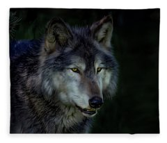 The Night Belongs To The Wolf Fleece Blanket