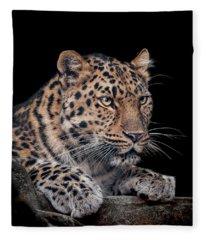 The Night Watchman Fleece Blanket
