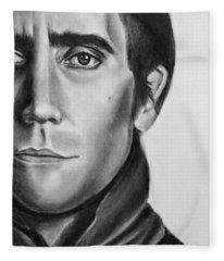 Nightcrawler Movie Art Drawing - Jake Gaalynhaal Charcoal Pencil Drawing - Ai P. Nilson Fleece Blanket