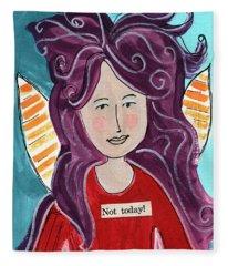 The Not Today Fairy- Art By Linda Woods Fleece Blanket